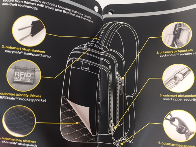 inside backpack